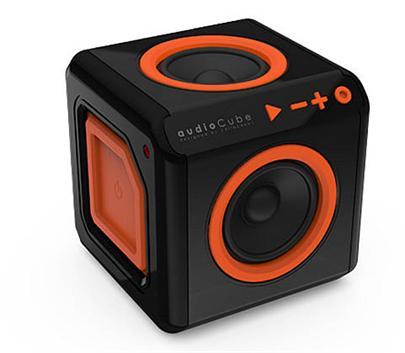 Repro přenosné PowerCube AUDIOCUBE, Black - Orange