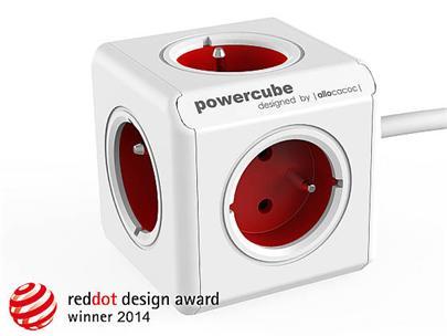 Zásuvka prodluž. PowerCube EXTENDED, Red, 5-ti rozbočka, kabel 1,5m
