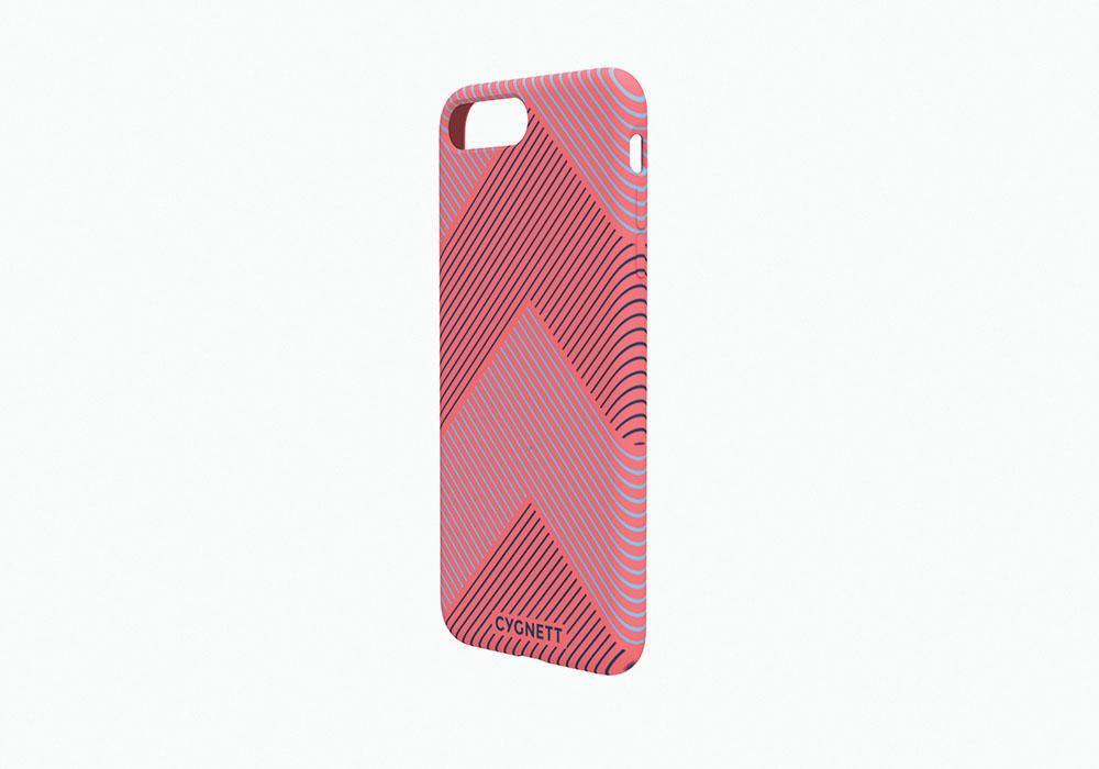 CYGNETT iPhone 8 Plus Chevron Stripe Case in Red