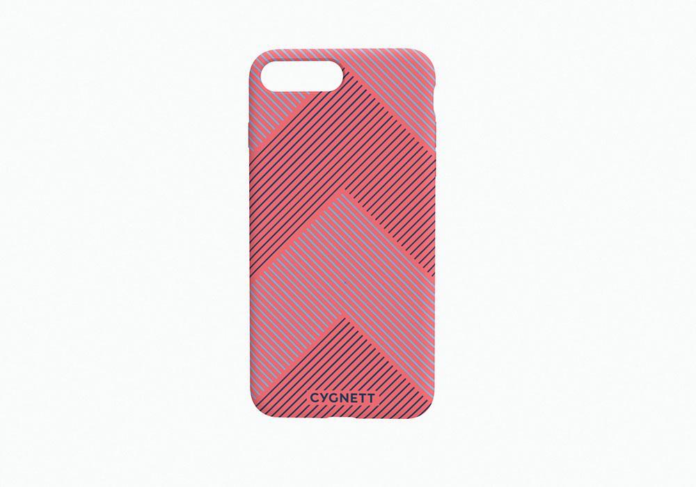 CYGNETT iPhone 8 Chevron Stripe Case in Red