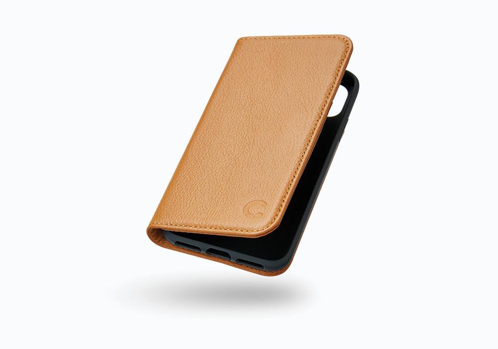CYGNETT iPhone X Leather Wallet Case in Tan