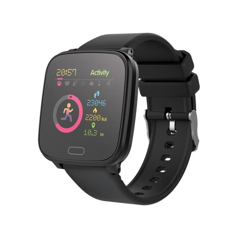 Chytré hodinky Forever IGO JW-100 černé - SMAWAJW100FOBK