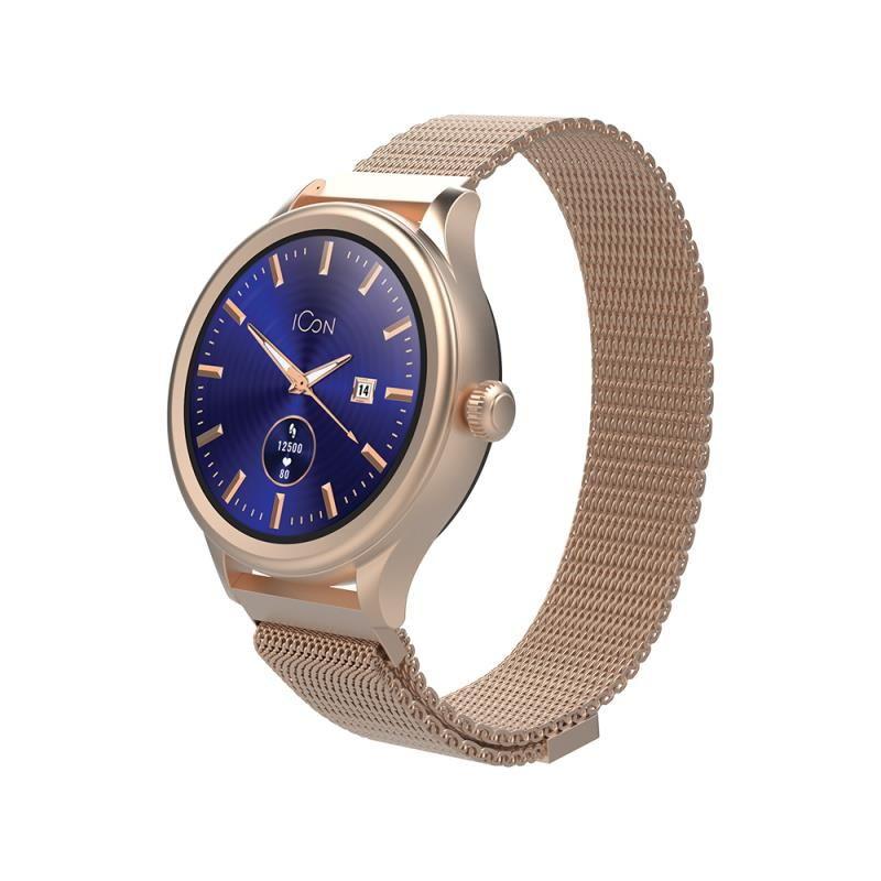 Chytré hodinky Forever Icon AW-100 AMOLED zlaté - SMAWAAW100FOGO
