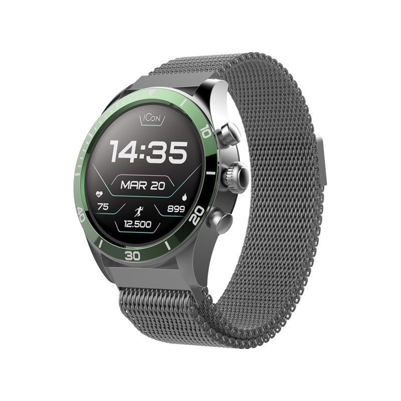 Chytré hodinky Forever Icon AW-100 AMOLED zelené - SMAWAAW100FOGR