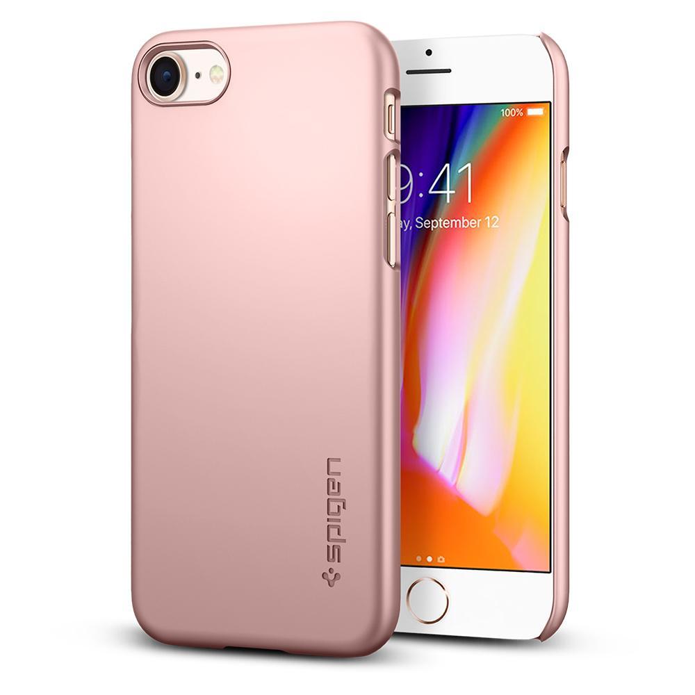OCHRANNÝ KRYT (HARD) SPIGEN Thin Fit PRO APPLE IPHONE 8 - ROSE GOLD