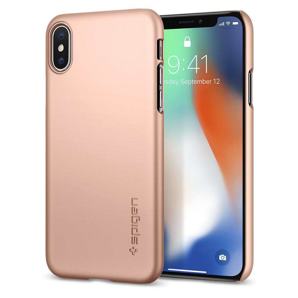 OCHRANNÝ KRYT (HARD) SPIGEN Thin Fit PRO APPLE IPHONE X - ROSE GOLD