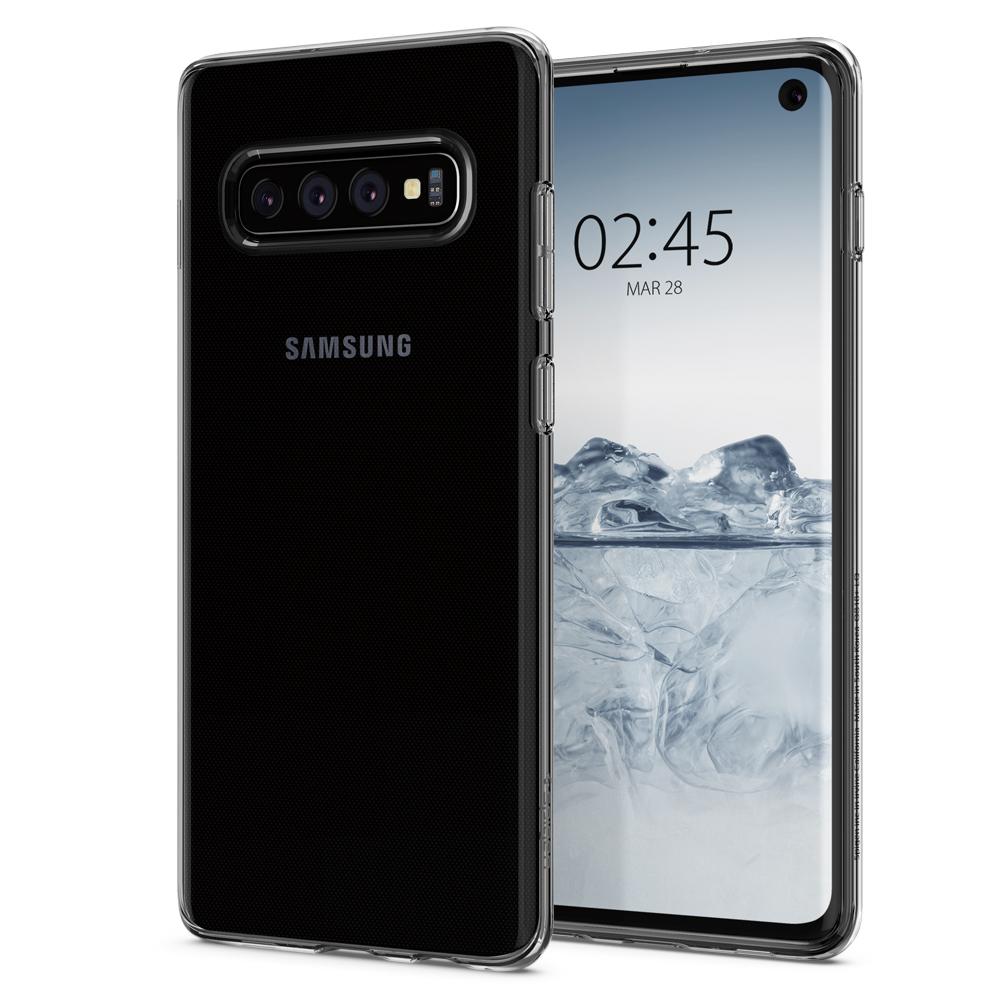 Kryt Spigen Liquid Crystal pro Samsung Galaxy S10 transparentní