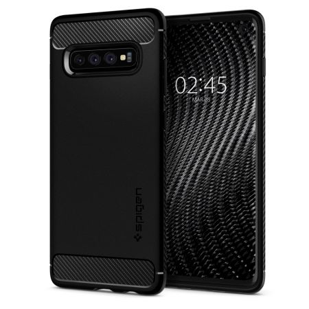 Kryt Spigen Rugged Armor pro Samsung Galaxy S10 černý