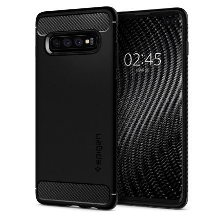 Kryt Spigen Rugged Armor pro Samsung Galaxy S10+ černý