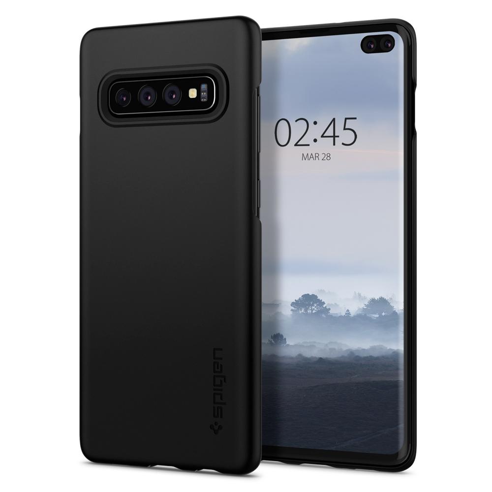 Kryt Spigen Thin Fit pro Samsung Galaxy S10+ černý