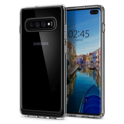 Kryt Spigen Ultra Hybrid pro Samsung Galaxy S10+ transparentní