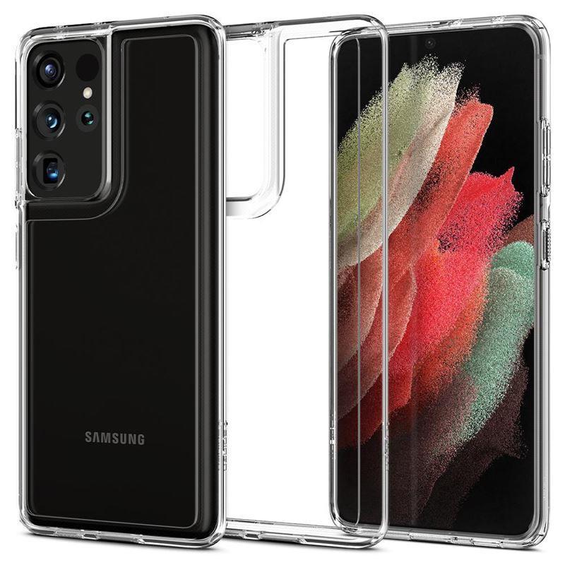 Ochranný kryt Spigen Ultra Hybrid pro Samsung Galaxy S21 ultra transparentní - ACS02351