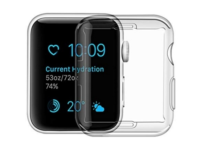 USAMS BH485 TPU Full Protective Pouzdro pro Apple Watch 40mm Transparent