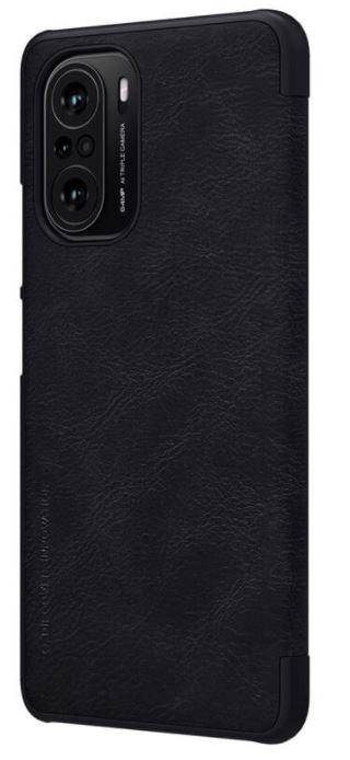 Nillkin Qin Book Pouzdro pro Xiaomi Poco F3 Black - 6902048214897
