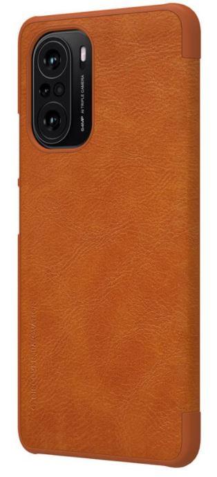 Nillkin Qin Book Pouzdro pro Xiaomi Poco F3 Brown - 6902048214910