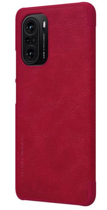 Nillkin Qin Book Pouzdro pro Xiaomi Poco F3 Red - 6902048214903