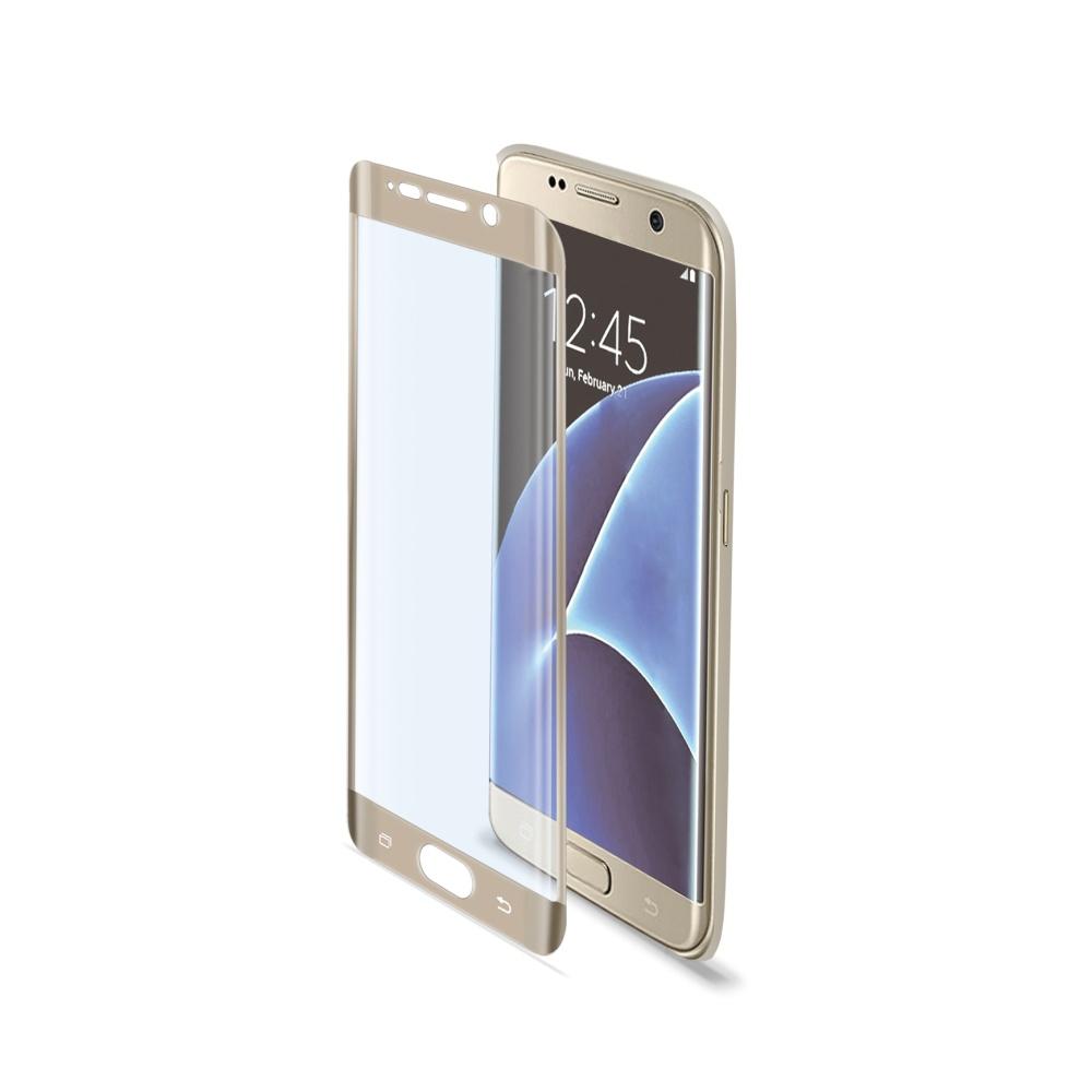 Tvrzené sklo CELLY Glass Galaxy S7 Edge, zlaté