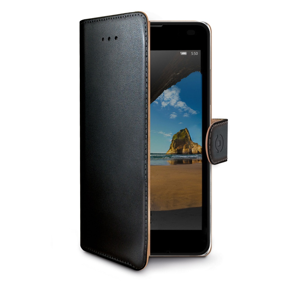 Pouzdro typu kniha Wallet pro Lumia 550, černé