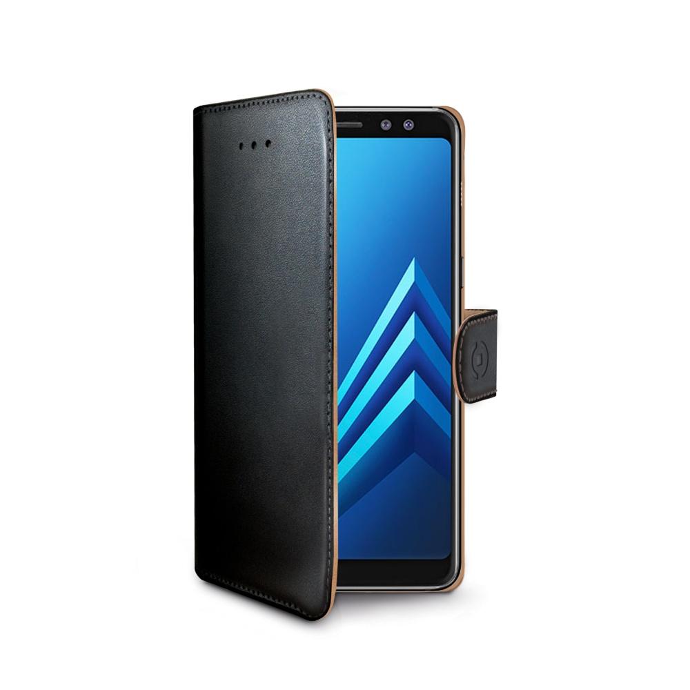 Pouzdro typu kniha Wallet Galaxy A8 (2018), černé