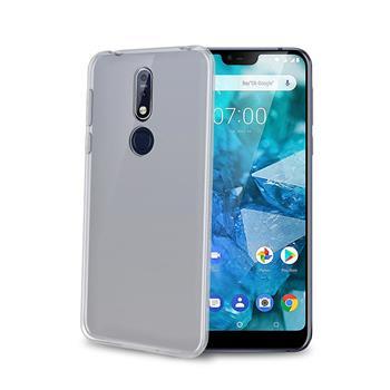 TPU pouzdro CELLY Nokia 7.1, bezbarvé