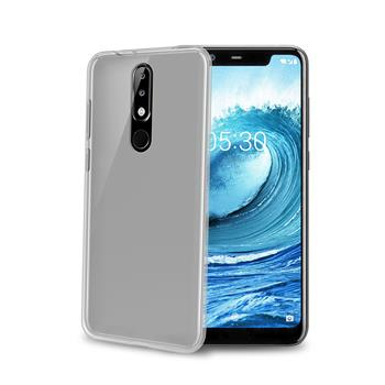 TPU pouzdro CELLY Nokia 5.1 Plus, bezbarvé