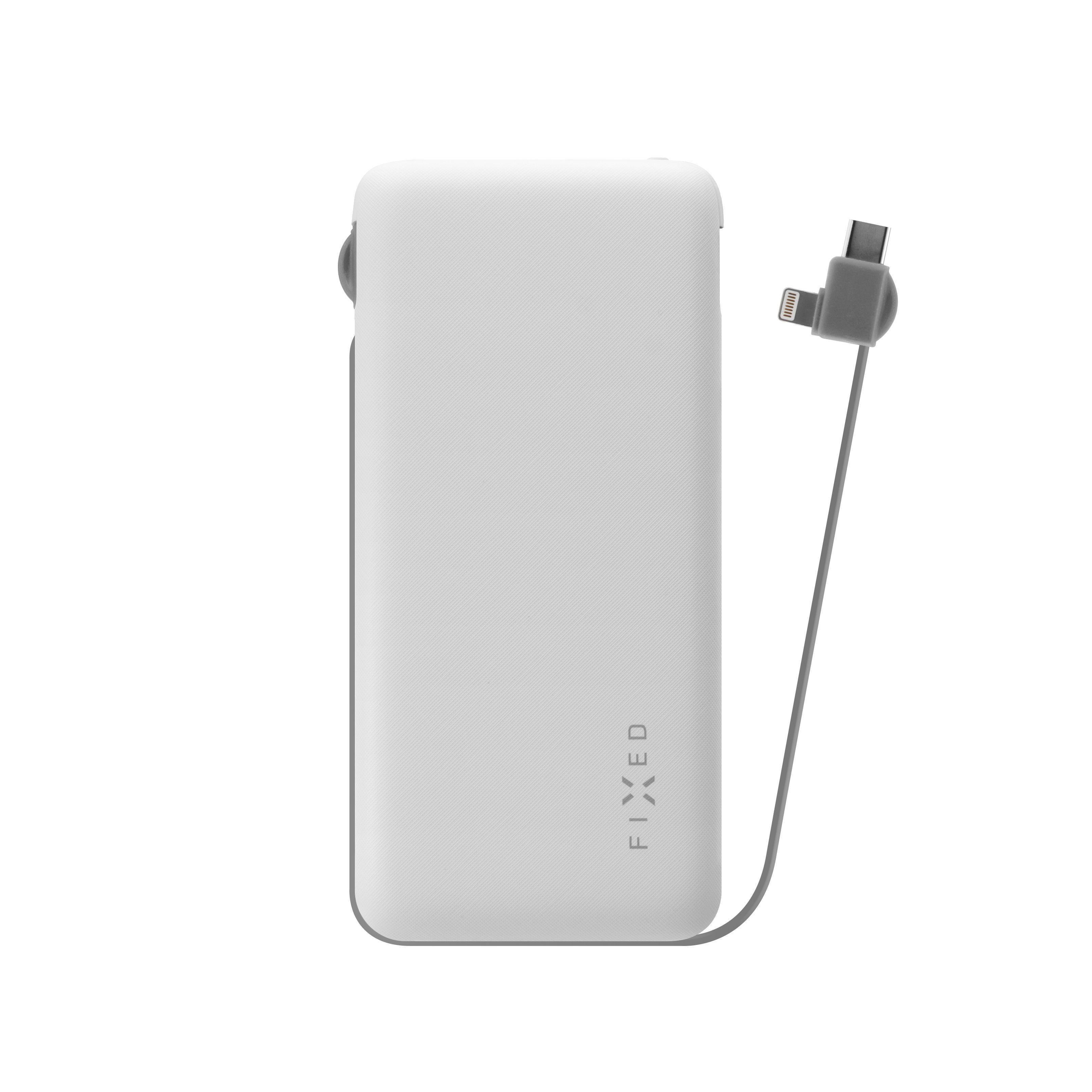 PWB FIXED Zen Lightning/USB-C, 10 000 mAh, bílá - FIXZEN-10LC-WH