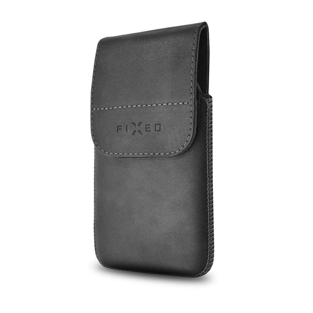 Kožené pouzdro FIXED Posh Pocket s klipem, XXL