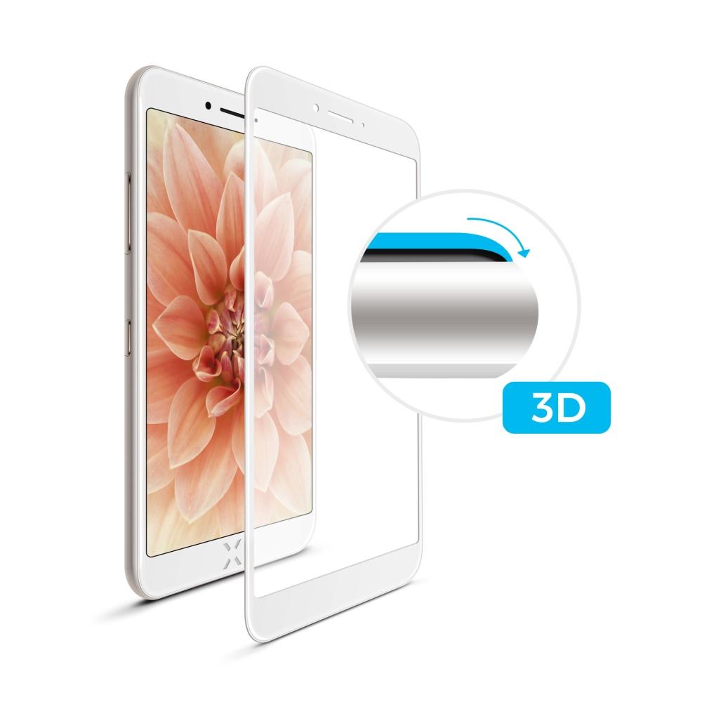 3D sklo FIXED iPhone 7Plus/8Plus,plné lepení,bílé