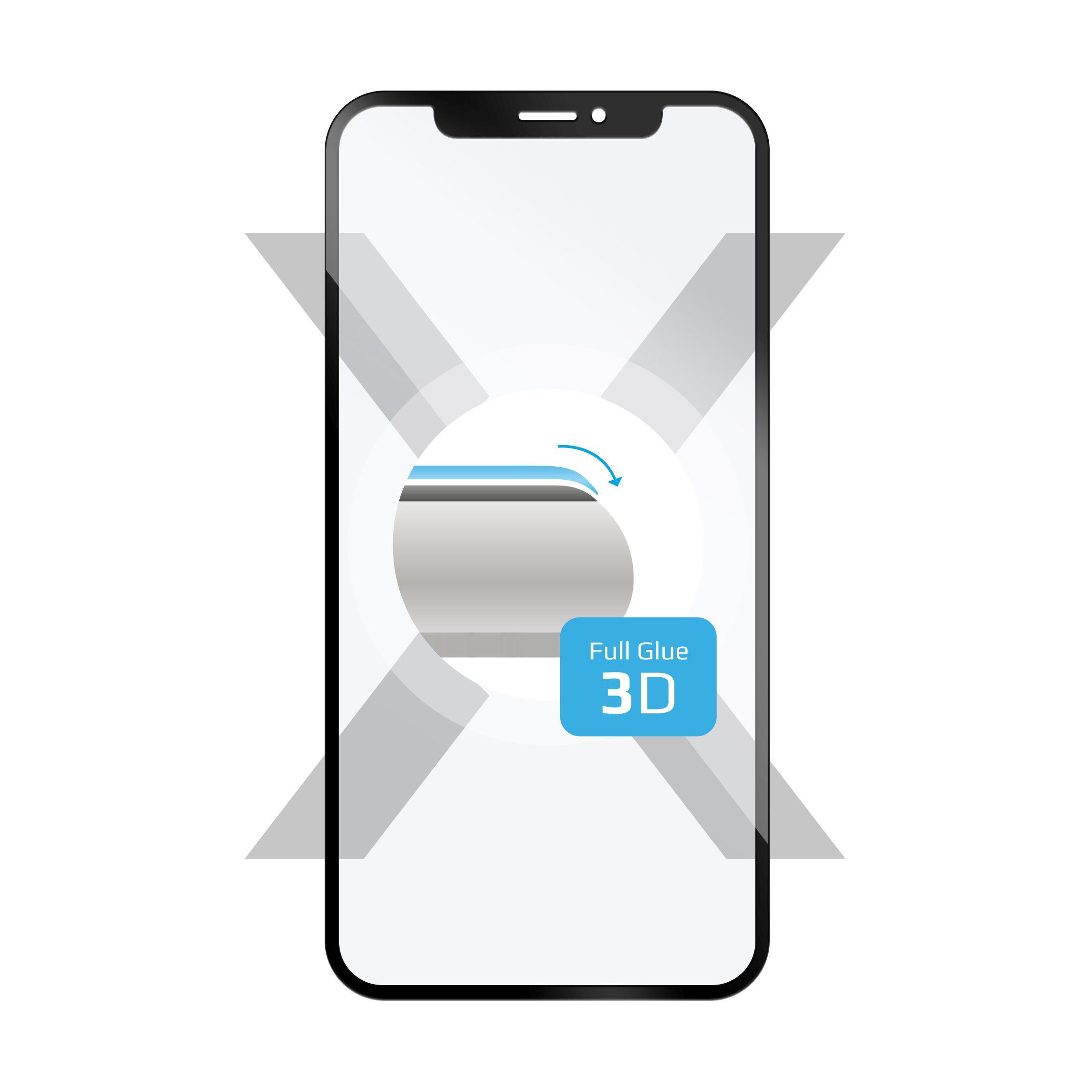 3D sklo FIXED Galaxy A40,plné lepení,černé