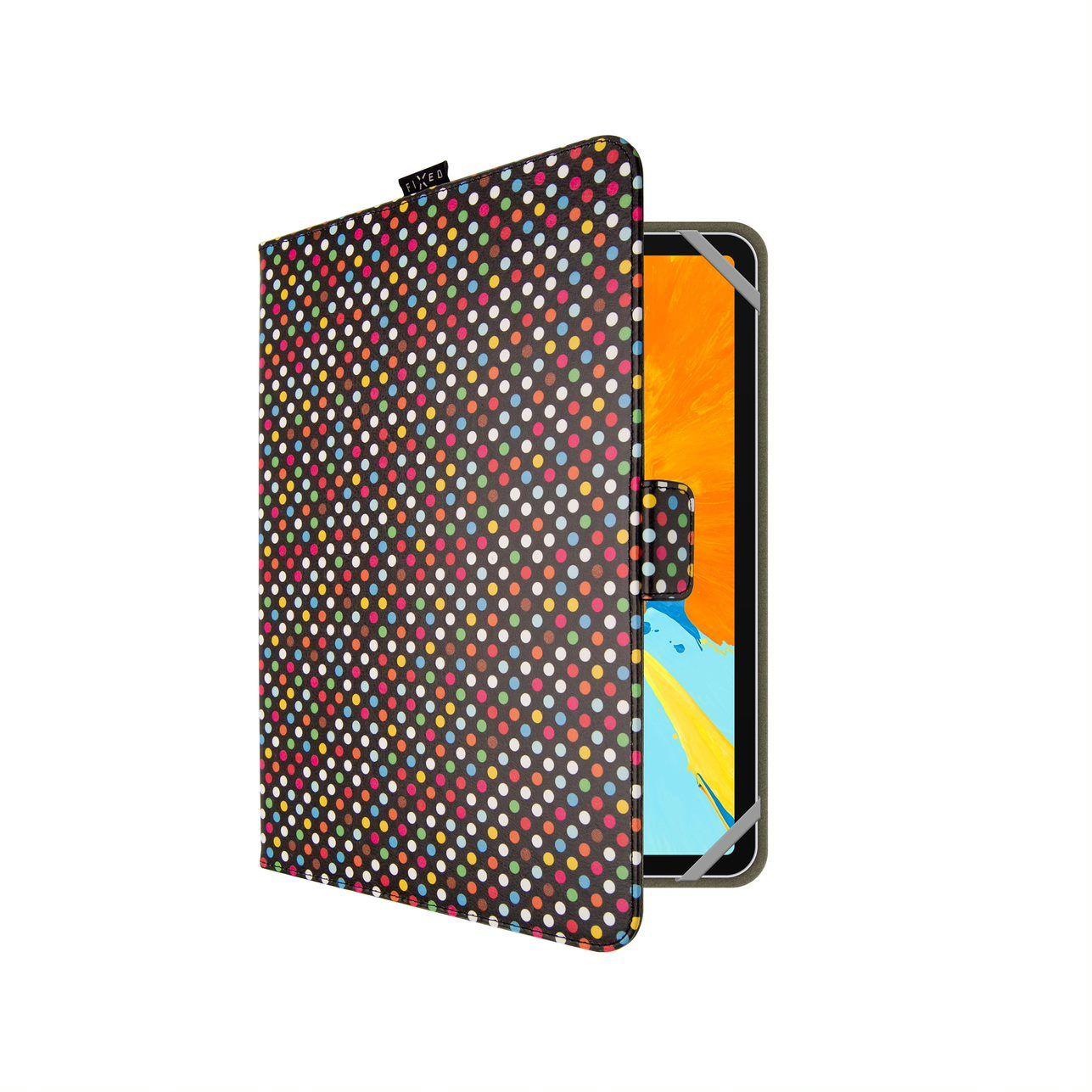 Pouzdro pro 10,1' tablety FIXED Novel, motiv Dots