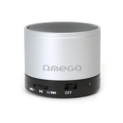 Bluetooth reproduktor 3W, FM, micro SD, stříbrný