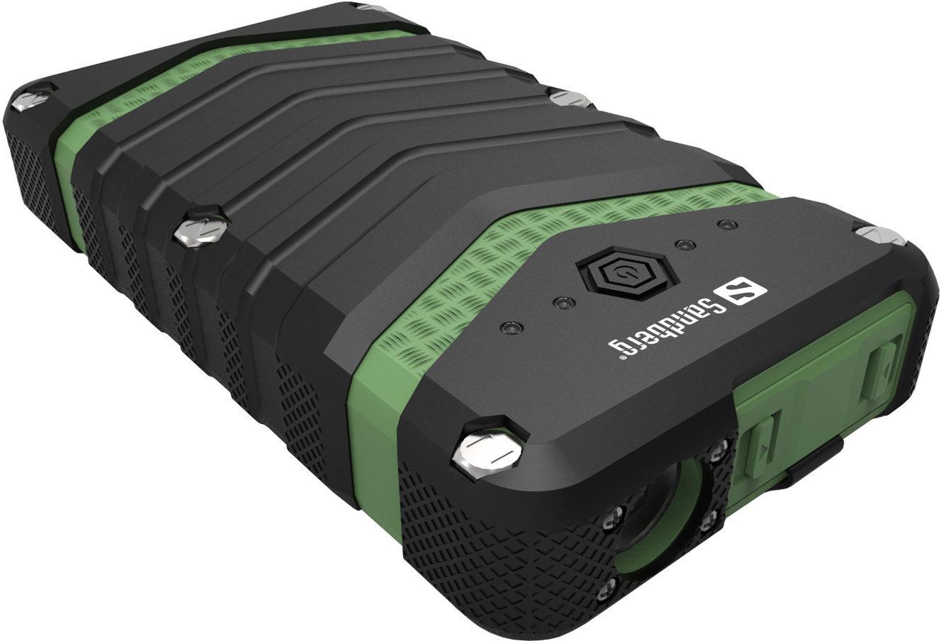 Sandberg přenosný zdroj USB 20100 mAh, Survivor Outdoor, pro chytré telefony, černozelený - 420-36