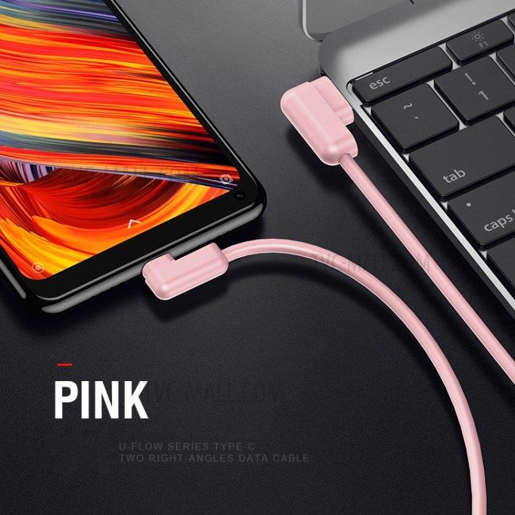 USAMS SJ167 Datový Kabel Type C U-Flow Pink