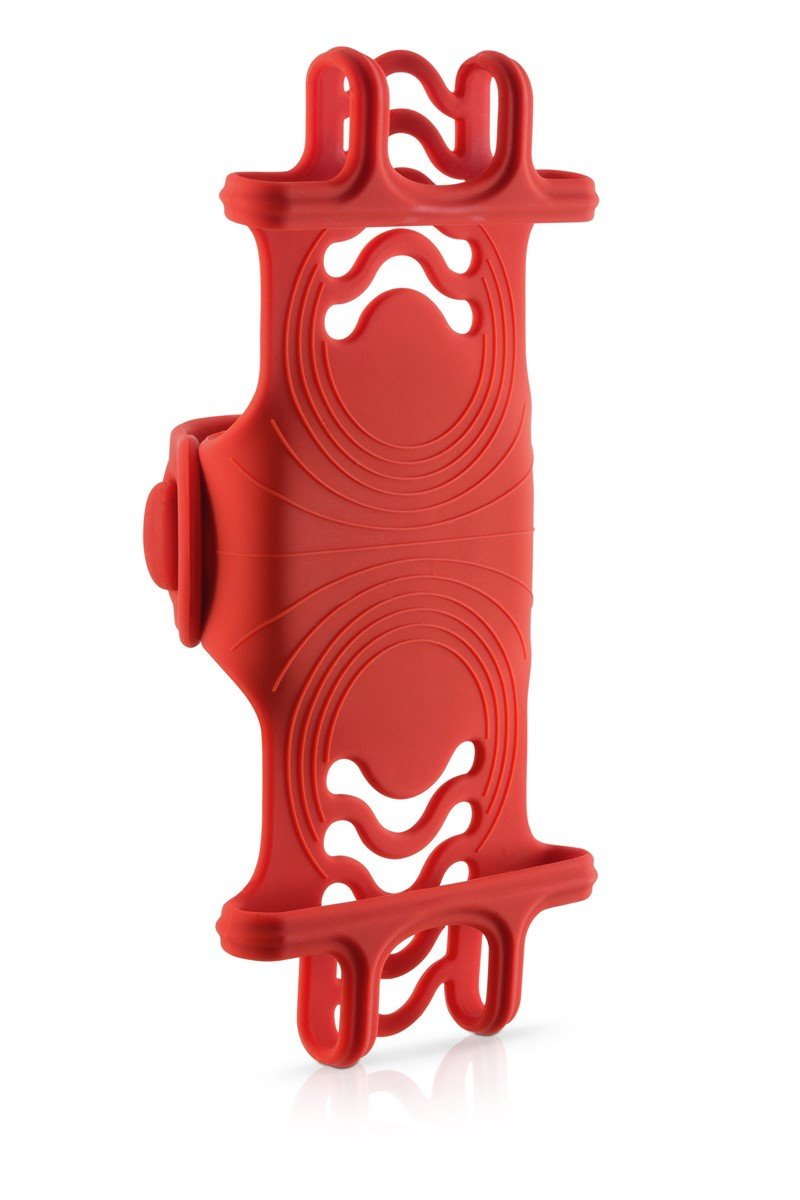 """BONE držák na kolo pro mobil 4-6"""", Bike Tie PRO - Red"""