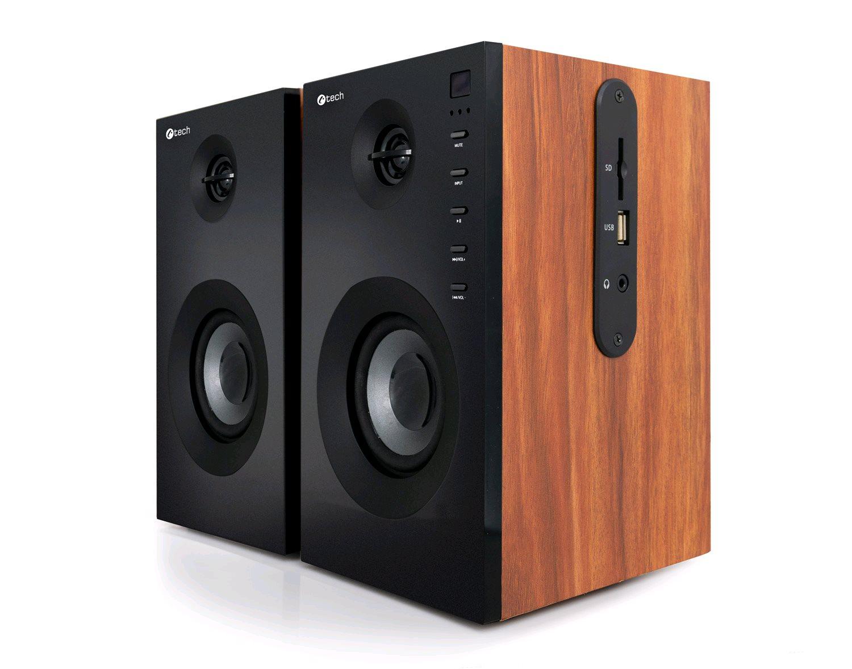 Repro C-TECH SPK-550BT, 2.0, Bluetooth, dálkové ovládání, dřevěné - SPK-550BT