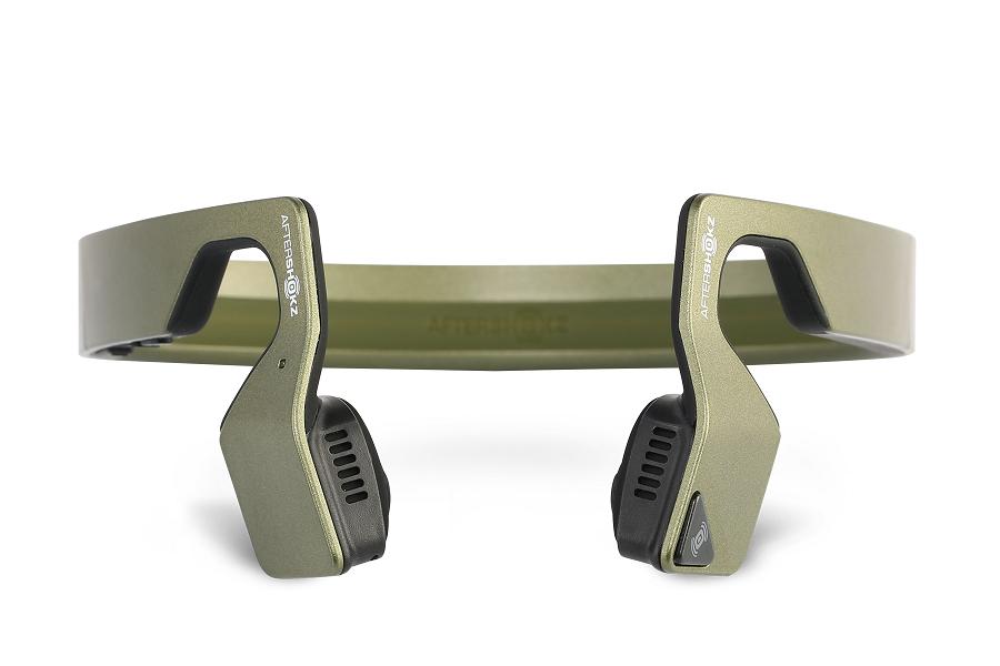 AfterShokz Bluez 2S BT sluchátka, zelená metalíza