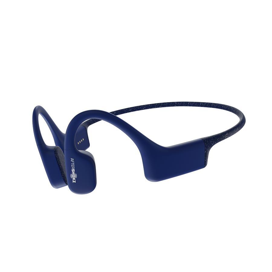 AfterShokz Xtrainerz, sluchátka před uši s přehrávačem (4GB), modrá