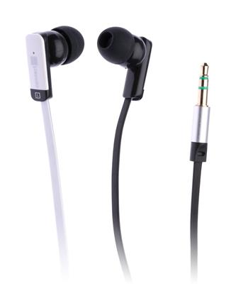 Sluchátka do uší, černobílá