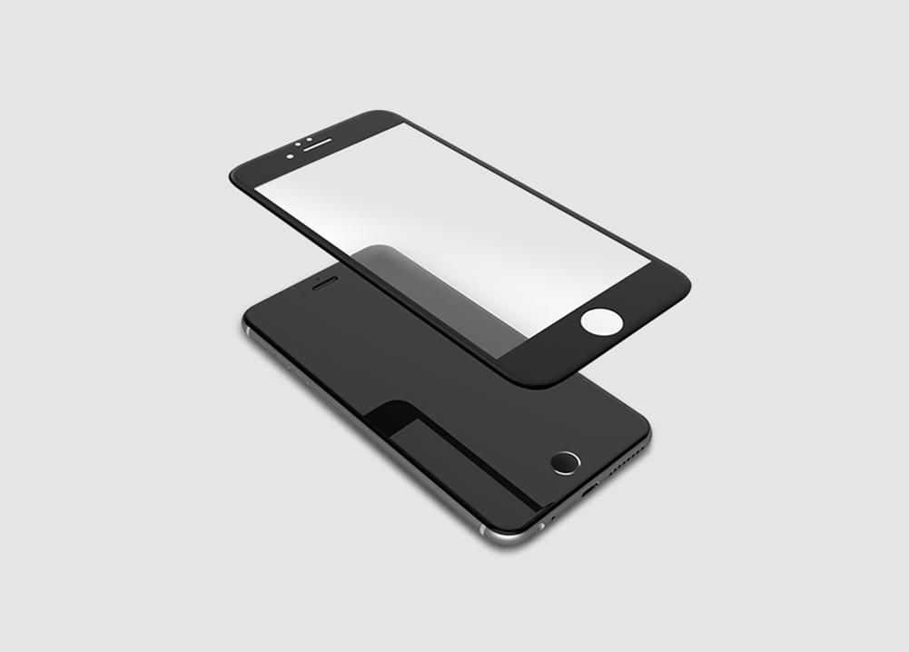 3D tvrzené sklo iPhone 6,6s, black