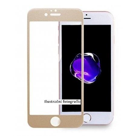 5D tvrzené sklo Apple iPhone 7/8 Gold (FULL GLUE)