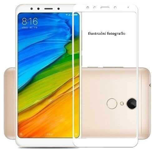 5D tvrzené sklo Xiaomi Redmi 5 White (FULL GLUE)