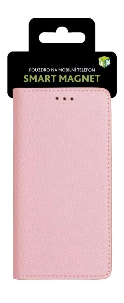 Cu-Be Pouzdro s magnetem Samsung A40 (A405) Rose Gold