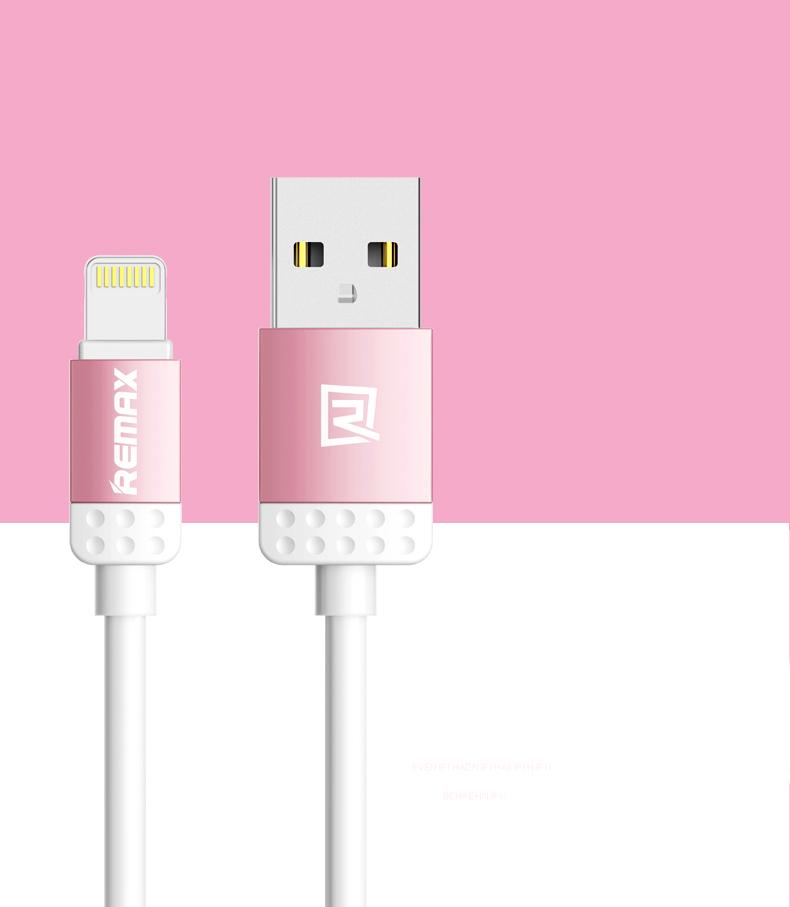 Datový kabel Lovely, iPhon 5/6, barva růžová