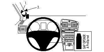 Brodit ProClip montážní konzole pro Toyota Avensis 09-15, vlevo na sloupek