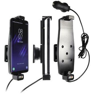 Brodit držák do auta na Samsung Galaxy S10/S9/S8 a jiné s pružinou, s nab. z cig. zapalovače/USB