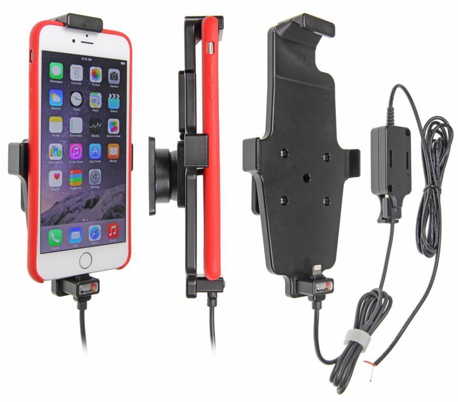 Brodit držák do auta na Apple iPhone 6 Plus v pouzdru, s pružinou, se skrytým nabíjením