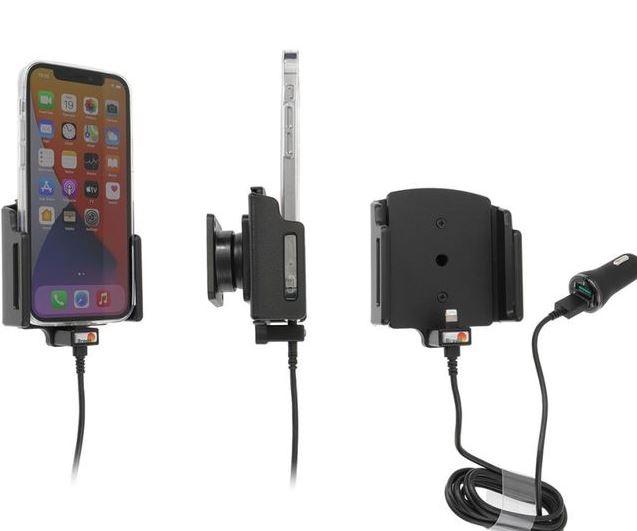 Brodit držák do auta na Apple iPhone 12/12 Pro, nastavitelný (70-83mm), 2xUSB, nab. z cig. zap.