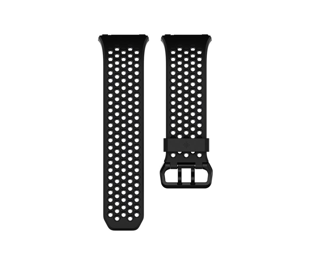 Fitbit Ionic sportovní řemínek Black Gray - Large