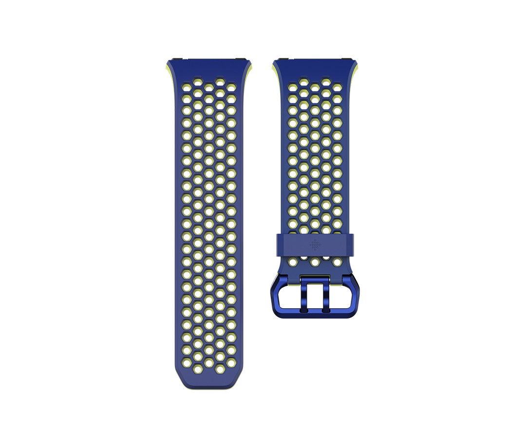 Fitbit Ionic sportovní řemínek Blue Yellow - Large