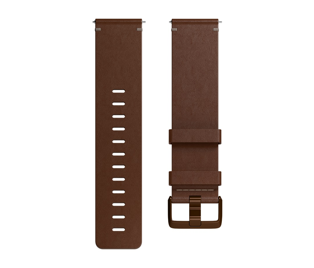 Fitbit Versa řemínek Leather Cognac - Large